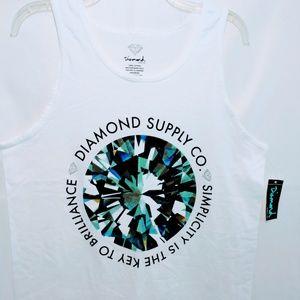 Diamond Supply Tank Top NWT M L Boyfriend Tee